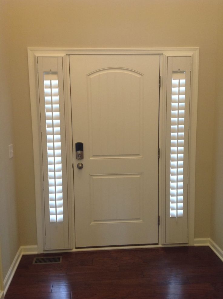 Would LOVE this for our front door  side light plantation shutters. Best 25  Front door curtains ideas on Pinterest   Door curtains