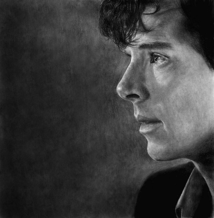 Sherlock watching for the cabbie fanart. This is so beautiful. His hair, his everything. Ugh!