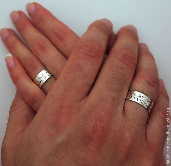 """Купить Комплект из серебряных колец """"Влюблённые"""". Кольца на помолвку - серебряный, кольцо, кольцо ручной работы"""