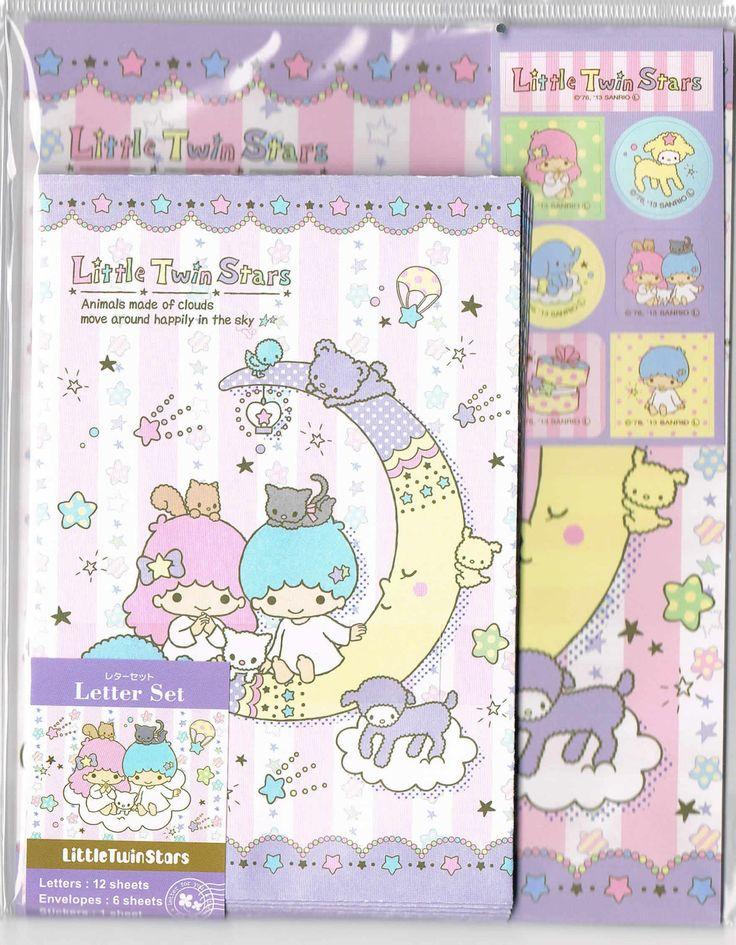 Sanrio stationery Little Twin Stars letter set 3