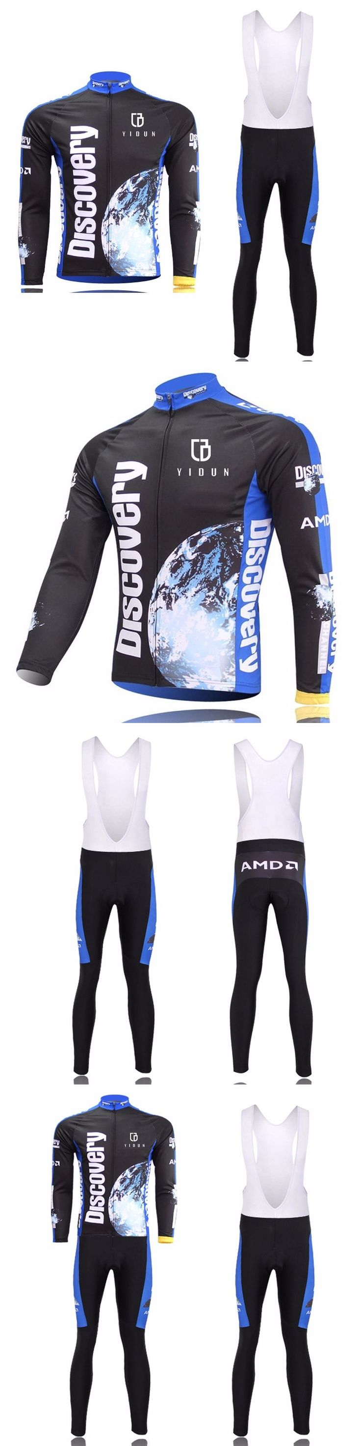 Jersey and Pant Short Sets 177852: Discovery Cycling Bibs Kit Mtb Bike Long Sleeve Bicycle Jerseys And (Bib) Shorts BUY IT NOW ONLY: $36.99