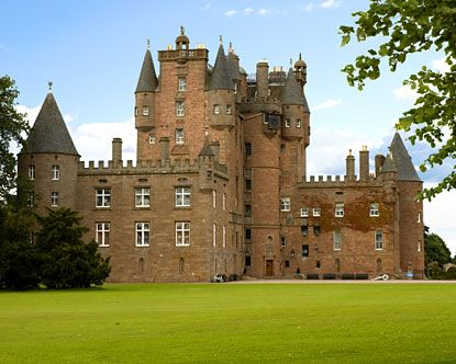 Glamis Castle; Shakespeare's setting for Macbeth. Also has continuous accounts of haunting and sightings of ghosts!