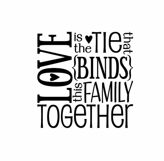 Family Vinyl Wall Decal Wall Quote Subway Wall Decals Love Block Art Saying for Living Room Family Room Foyer 22Hx22W FS172 via Etsy