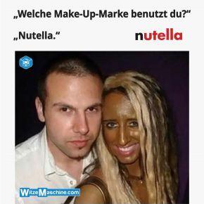 Schminken mit Nutella - Make-Up-Fail - Blondinenwitze