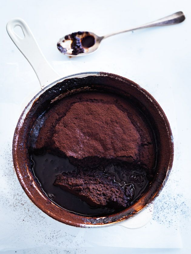 mocha self-saucing pudding from donna hay