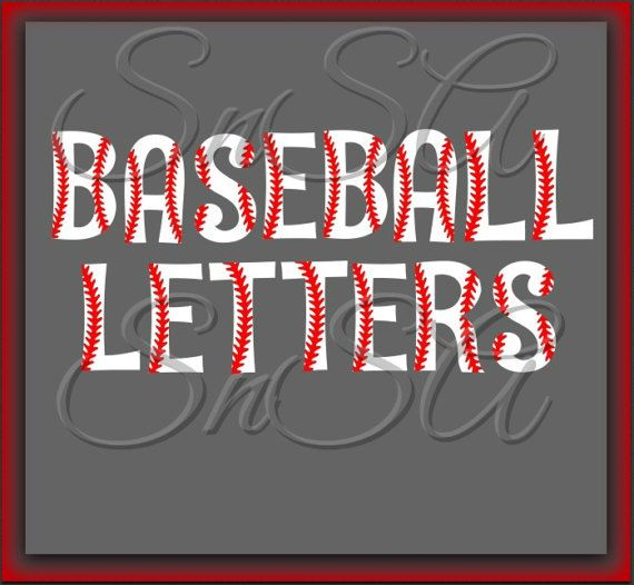 Baseball Letters SVG Alphabet Laces Threads by SHAREnShareALIKE