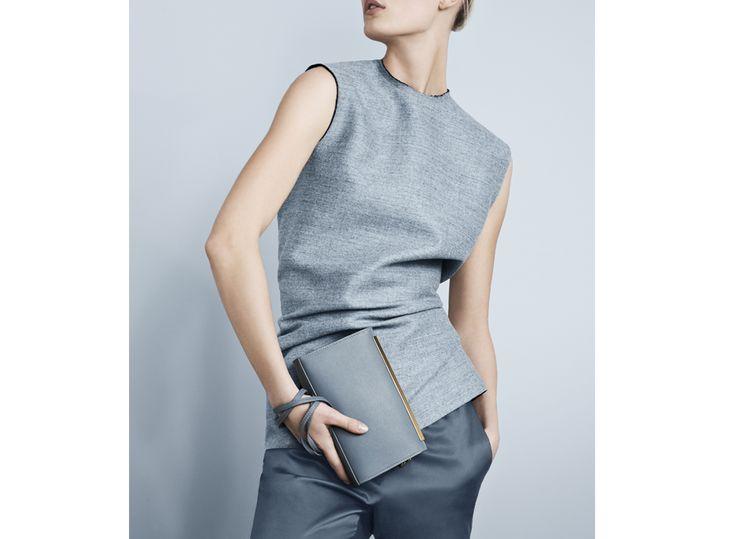 Feminine light blue Adax bag with strap - buy online today 159.90 EUR