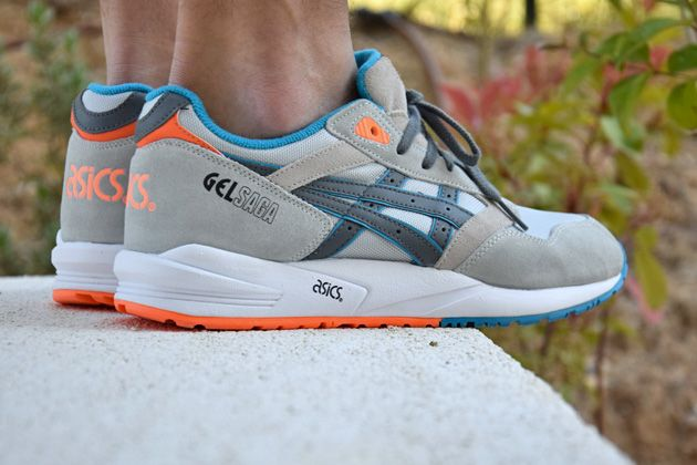 asics beige orange