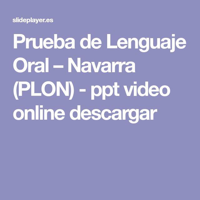 Prueba de Lenguaje Oral – Navarra (PLON) - ppt video online descargar