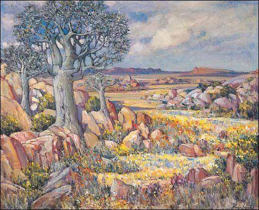 """""""Springtime in Namaqualand"""" Pieter Hugo Naude"""