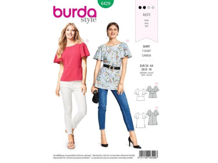 Sewing pattern shirt, Burda 6429   tissus-hemmers.fr