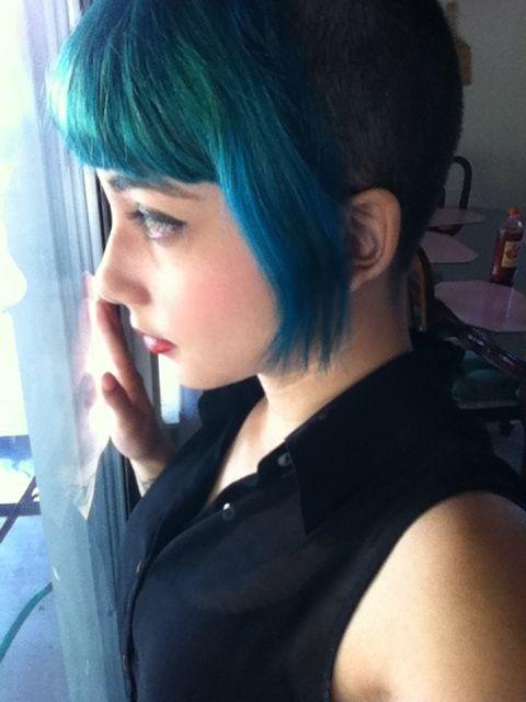 Hair Dye N Raged Teal Chelsea Haircut Unique Hair For