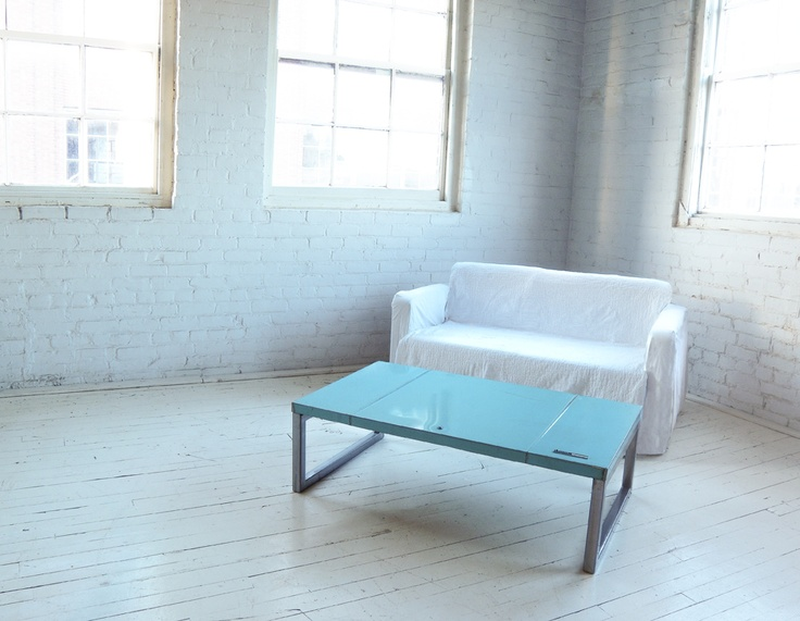 Metal Table Made From A Recycled 1965 AMC Rambler Classic 770 By Oxyd  Factory Who Transforms