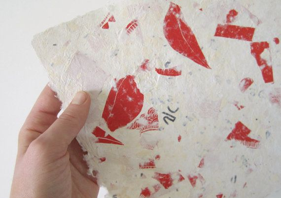 handmade paper art, papermaking