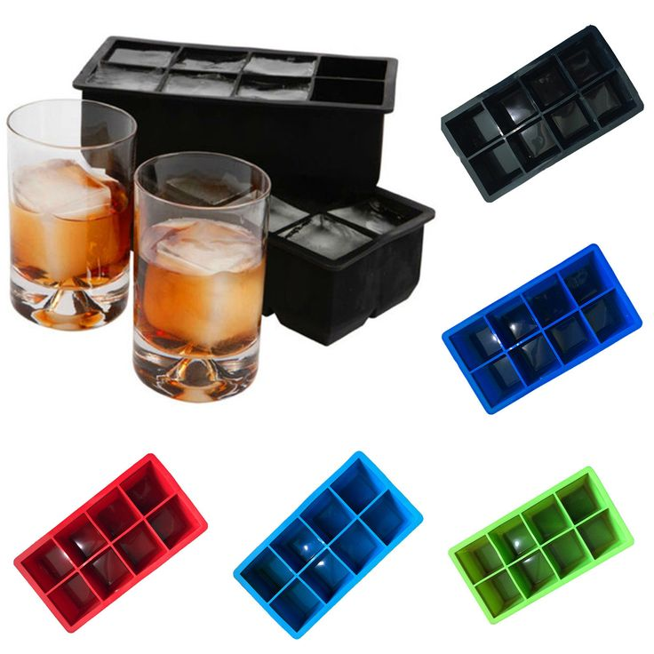 8 Big Ice Cube Square Tray Mold Mould Bar Kitchen Accessories 21.511.55Cm