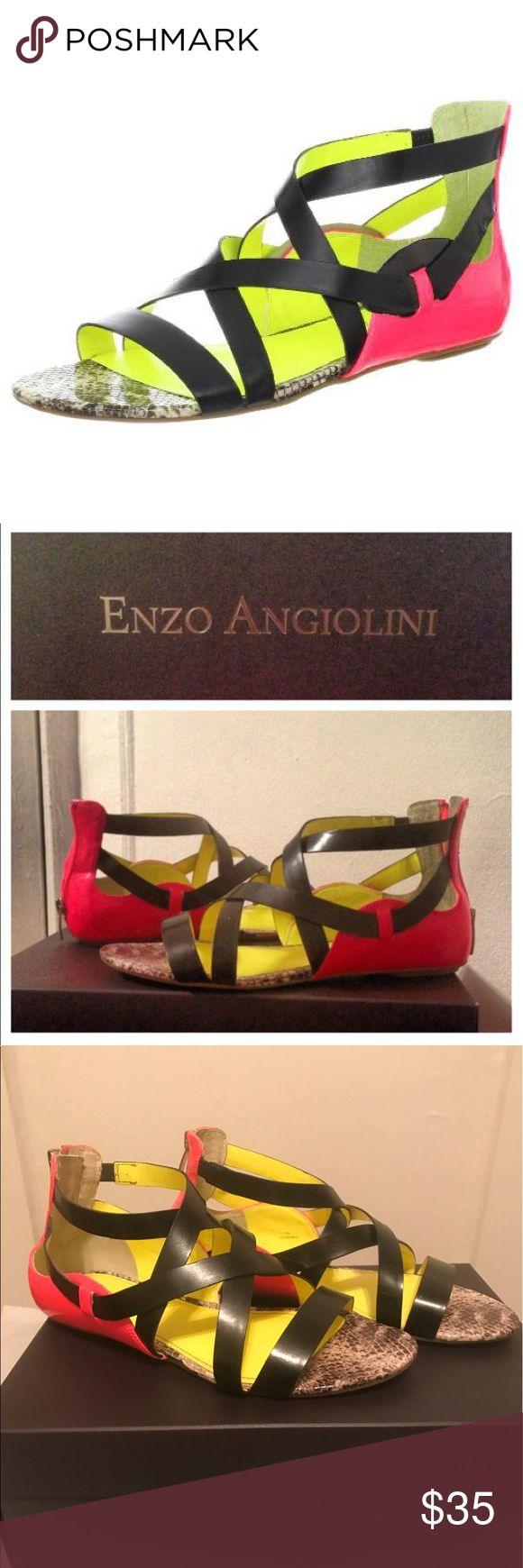 Enzo Angiolini Karnak Sandals Like new, worn 2 times but they just aren't for me! Comes with box!   📦I ONLY SHIP MONDAY-THURSDAY📫 Enzo Angiolini Shoes Sandals