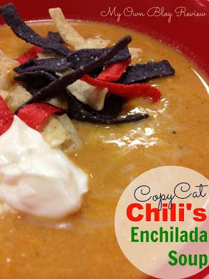 My Own Blog Review: Copycat Chilis Enchilada Soup with Velveeta Cheese