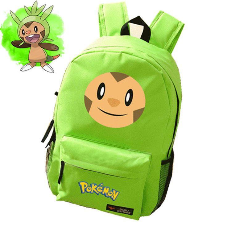2015 Japanese Anime Pokemon Kawaii Chespin Printing Emoji Backpacks for Teenage Girls Canvas School Bags for Teenagers  #Happy4Sales #bag #kids #fashion #L09582 #YLEY #highschool #bagshop #shoulderbags #backpack
