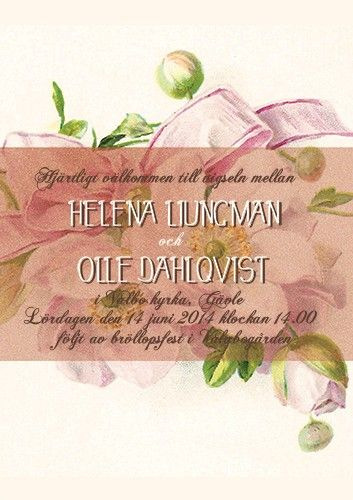 """Have I told you lately"" bröllopsinbjudan rosa via lovelydaydesign. Click on the image to see more!"