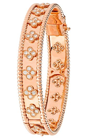 Van Cleef & Arpels diamond and rose gold bracelet. Available at our Manhasset boutique!