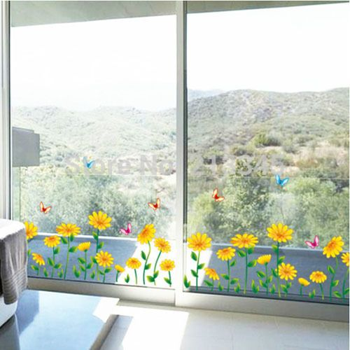 Fair price [Fundecor] diy wall stickers home decor new baseboard sunflowers Interior corner windows deco art pegatinas decorativas just only $4.31 with free shipping worldwide  #wallstickers Plese click on picture to see our special price for you