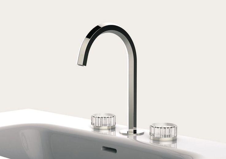 Fantini is best known for bringing together craftsmanship and cutting edge technology, as well as focusing on top quality design and constant material research. | Venezia glass handles tap, Matteo Thun & Antonio Rodriguez, 2016  Venezia is a tap with refined aesthetics. Its knobs are in Murano glass, available in a choice of white, black and blue, colours which come from the Venetian tradition.