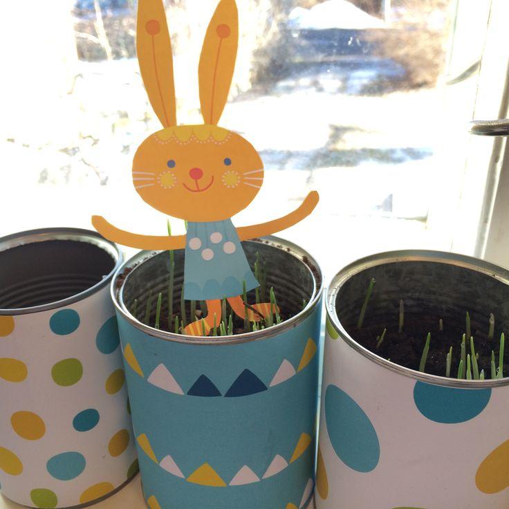 Rairuohopurkit. lasten | askartelu | pääsiäinen | käsityöt | koti | paperi | DIY ideas | kid crafts | Easter | home | paper crafts | Pikku Kakkonen