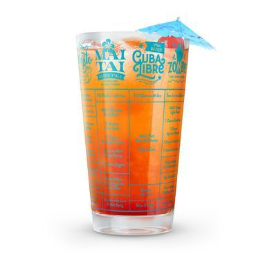 You've picked your poison, now it's time to mix things up a bit!  Our party loving Good Measure Rum Recipe Glass is just what the bartender ordered!  This stylish 16-oz measuring glass is printed with 7 delectable cocktail recipes, sure to turn you into the most-exacting mixologist.  So, shake things up by trying something new.  You may end up discovering your new favorite!  Who knows, you may just ditch your ole stand-by Mai Tai, for a Cuba Libre, or possibly turn to the Zombie to lift…