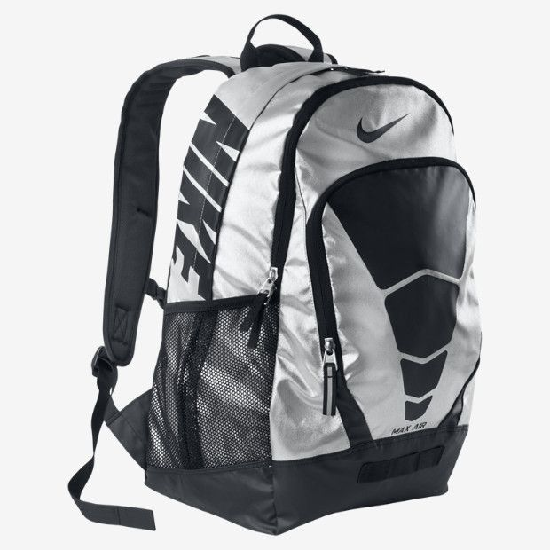nike backpack silver