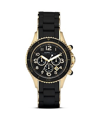 Obsessed with this Marc Jacobs Black/Gold watch