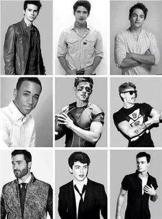 The guys of Teen Wolf Dylan O'Brien, Tyler Posey, Dylan Sprayberry, Khylin Rambo, Mason Dye, Cody Saintgnue, Tyler Hoechlin, Ian Nelson, Ryan Kelley
