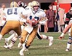 John Hufnagel Winnipeg Blue Bombers quarterback 1983. Copyright photograph Scott Grant/