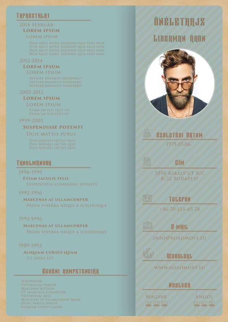 Egyszerű HWD Design Önéletrajz, pici Hipster stílussal.