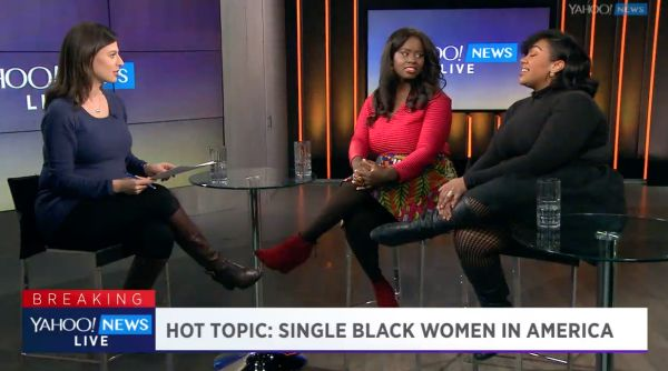 With Valentine's Day just around the corner, Yahoo News and Finance Anchor Bianna Golodrgya sat down with Essence Magazine's Charreah Jackson and MadameNoir.com's Brande Victorian for the scoop on marriage and race.