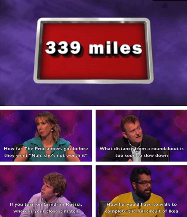 """When there were literally four perfect responses to this statistic. 