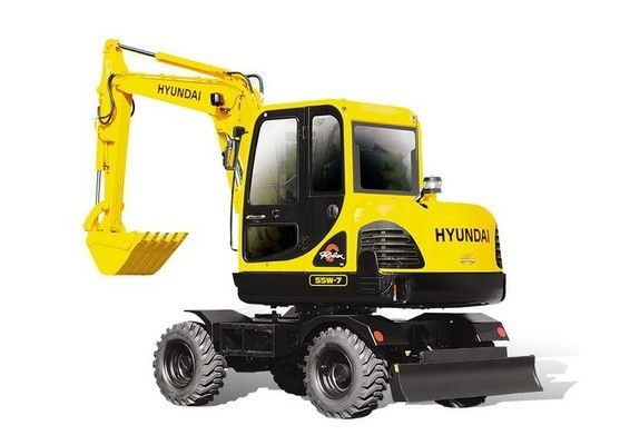 Hyundai R55w 7 Mini Wheel Excavator Service Manual Hyundai Excavator Manual