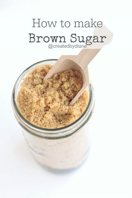 Homemade brown sugar - who knew?