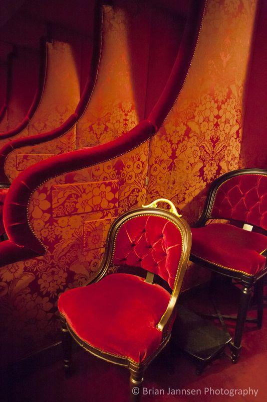 Red velvet box seating - Opera House, Paris France © Brian Jannsen Photography