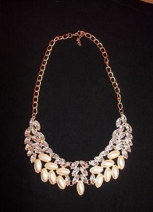 Kupuj mé předměty na #vinted http://www.vinted.cz/zeny/nahrdelniky-koralky-a-privesky/8507947-luxusni-vyrazny-nahrdelnik-s-kaminky-zlaty-podklad