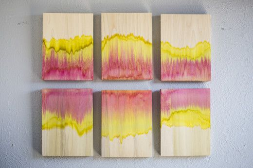 Tie Dyed Wood Wall Art | Crafts | Pinterest | Wood art ...