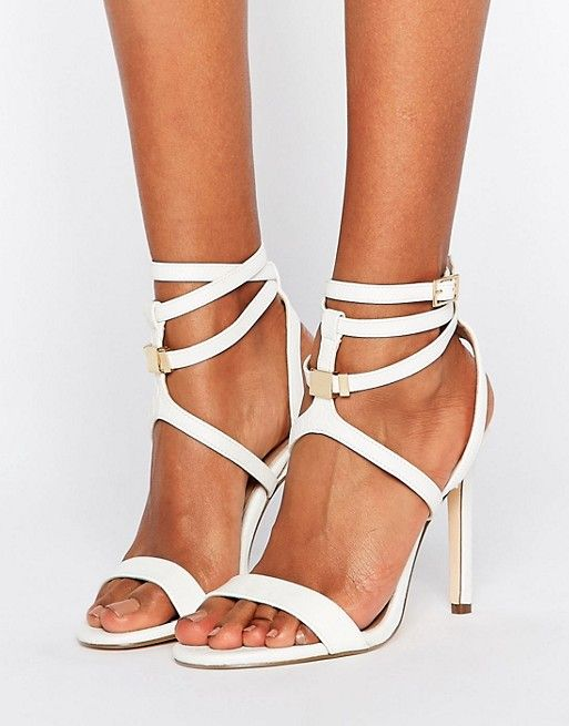 River Island Ankle Wrap Barely There Heeled Sandals