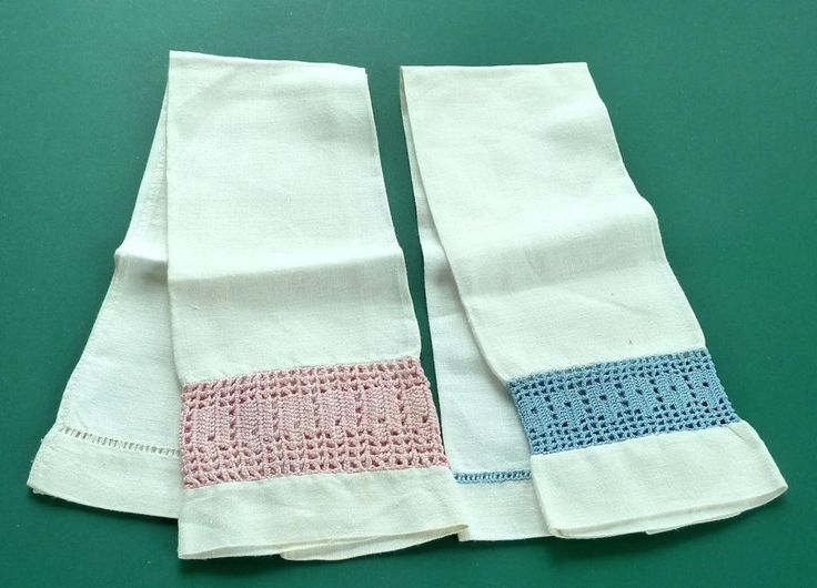Vintage Handmade Guest Towels by SouthamptonCreations on Etsy