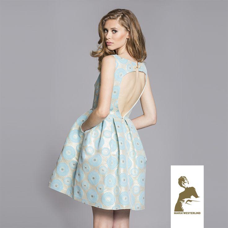 Maria Westerlind dress Uma, turquoise-gold, ss15, www.mariawesterlind.com
