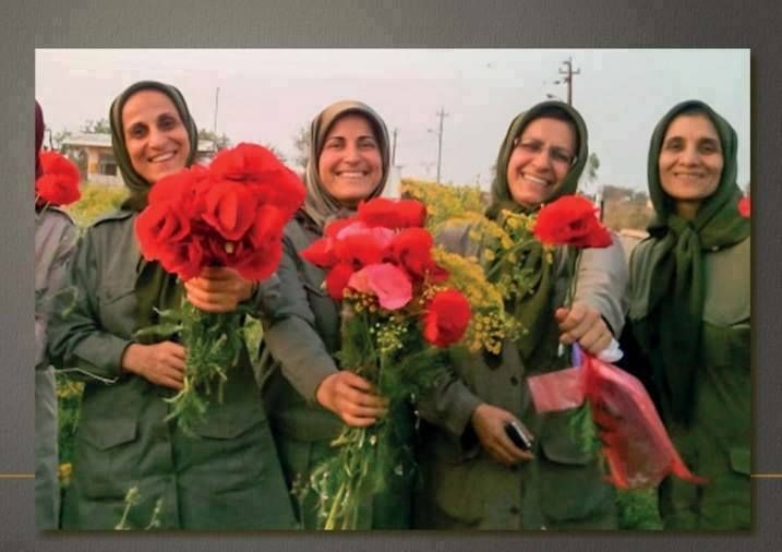 Four of the women who were killed in the attack. They were all members of the leading Council of PMOI. Many of high-ranked PMOI officers are women. Something that the Mullahs of Iran cannot tolerate.