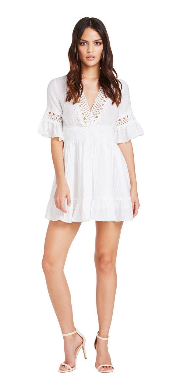 Summer Holiday Dress (White) - Miss G