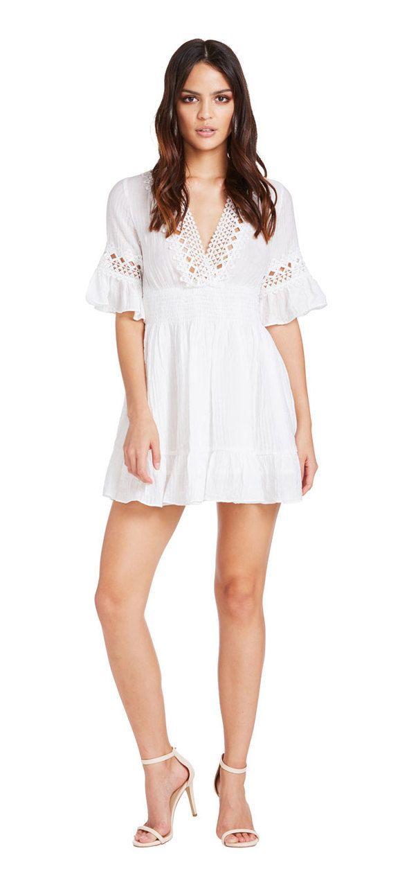 Summer Holiday Dress (White) - Miss G
