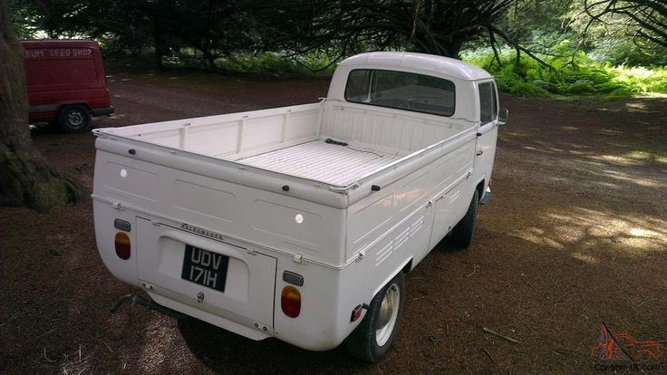 1970 (H Reg) White Bay Window Pick Up.  Single cab.  1600 cc Single port engine.   Odometer only reads 3900 miles. changed when imported July 2008.  I have owned  her since Nov 2009 and only completed 2500 miles. hence the reason for selling  her.  Only been used in the summer and dry stored. Runs very well and  starts turn of the key.  Body work in very good condition all original with no welding