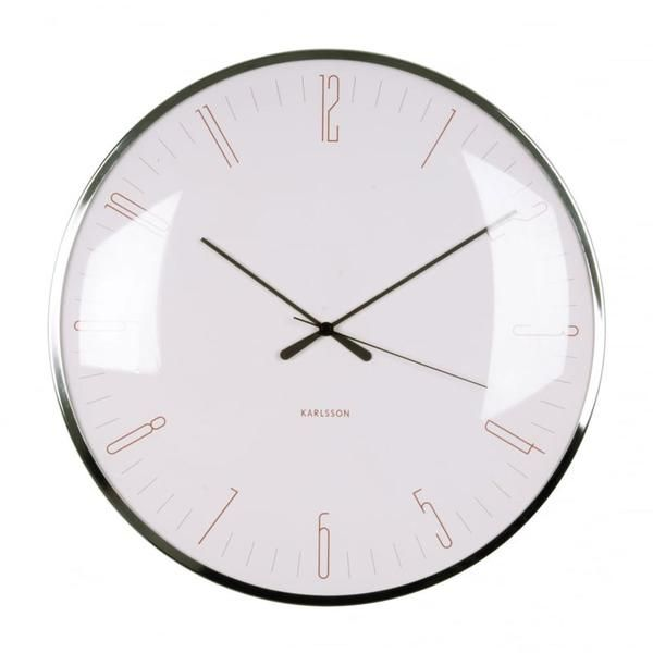 Dragonfly Pink Wall Clock (40cm) www.koop.co.nz