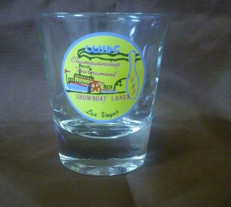 WOMENS INTERNATIONAL BOWLING CONGRESS WIBC shot glass LAS VEGAS 1983 shotglass