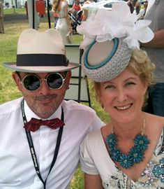 Melbourne milliner Louise Macdonald was a judge of Fashions on the Fields at the Mornington Cup (Mornington Peninsula), hosted by the Melbourne Racing Club in February 2014